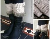 Textured Boot Cuffs Crochet Pattern No.912