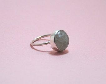 Rutile Quartz Gemstone Sterling Silver Ring