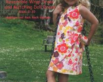 SUNNY ~ REVERSIBLE DRESS and Matching Doll Dress ~ Multi-sized Sewing Pattern for Girls ~  Sizes 2-10 ~ olive ann designs  OAD69
