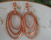 Handmade dangle earrings- copper dangle earrings