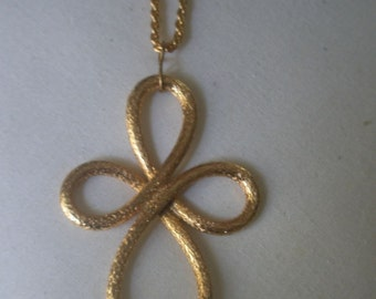 Vintage Large Gold Tone Coptic Cross on a Heavy Chain