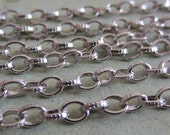 Antique Silver Cross Chain - Madame Curie - 5 Foot - Steampunk -  Antique Silver Cross Jewelry Chain