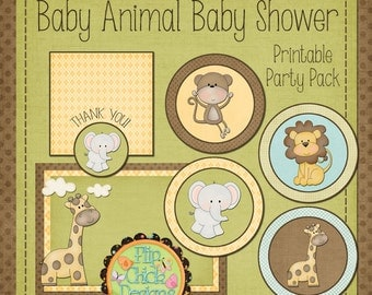 Printable Baby Animal (neutral) Baby Shower