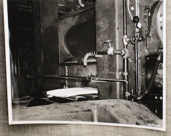Antique Industrial Photograph , 8 x10 , Antique Photograph , Steel Mill Photo , Black and White Photo , Industrial , Machine