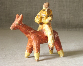 Folk Art  Horse, Ceramic Horse, Terracotta Figure, Ceramic Folk Art, Equestrian, Ceramic Figure, Pottery Figure, Rustic, Cabin, Primitive