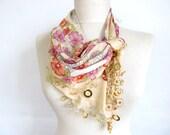 cotton scarf - scarfs or scarves- turkish scarves - Oya Scarf- scarf fashion -floral scarf -scarf accessories -scarf sale
