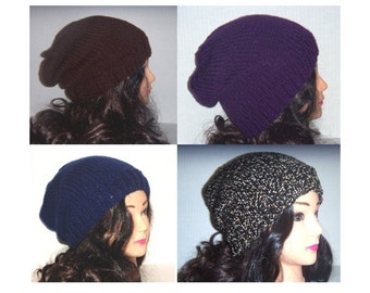 Made To Order, Custom Hat, Custom Color Beanie, Handmade Knit Hat, Slouchy Hat, Womans Hat, Mans Hat, Accessories