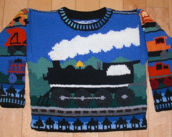 Three Year Trains Sweater