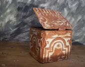 Repurpose Old TIn BOX with lid for whatever- made from old ceiling tin