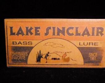 Lake Sinclair fishing cabin lake house decor fishing lure boxes 4YourLake