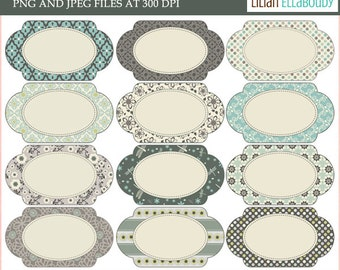 Oval editable printable labels in assorted colors and patterns,commercial use digital printables
