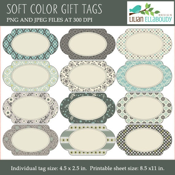 Magic image with printable oval labels