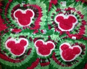 Adult Christmas Short Sleeved Tie DyeTshirt --Custom Made for YOU