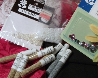 GLASS BEADS, FAUX gemstones & faux pearls