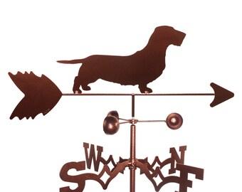 Hand Made Wirehaired Dachshund Dog Weathervane New