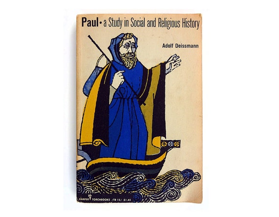 "Milton Glaser book cover design, 1957. ""Paul"" by Adolf Deissmann"