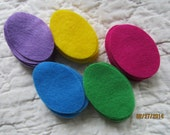 Felt Easter Egg Shapes- Small Size- 50 Die Cut Felt Eggs-DIY Crafts-Quiet Books-Easter Colored Felt Egg Shapes-DIY Felt Spring Kit