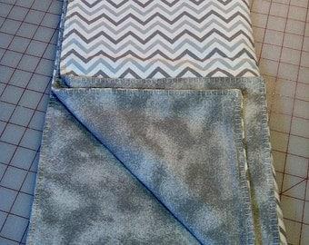 Gray Tones Chevron Blanket