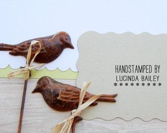 Handstamped By...Olive Wood Stamp