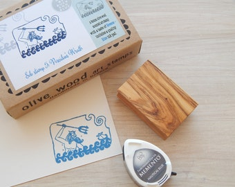 Poseidon's Wrath - Boxed Greece Inspired Stamp and Ink Pad