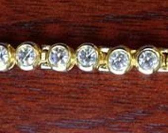 Gold-Toned Rhinestone Bracelet