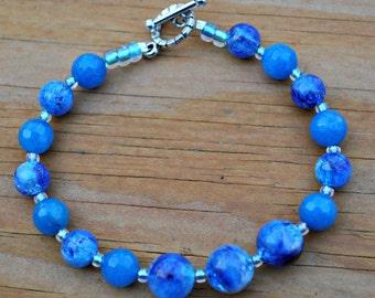 Niagara Blue Vintage Bead Bracelet