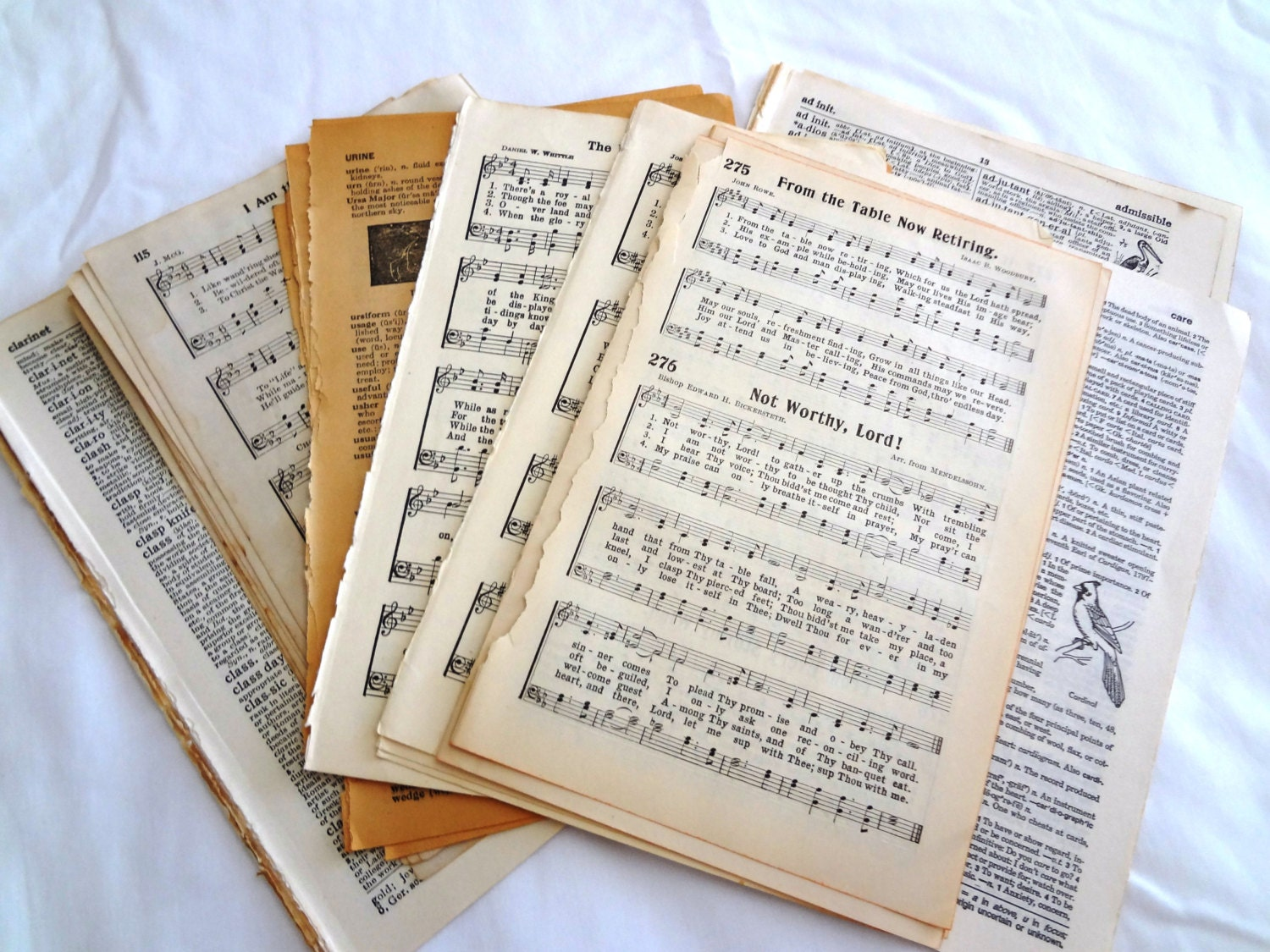 Lot Vintage Book Pages Ephemera For Altered Arts