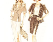 New Look Dress Pattern 6054 - Misses' Jacket, Top and Skirt in Two Variations - SZ 8/10/12/14/16/18