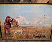 Vintage Collectible Duxbak Hunting Tin / Metal Advertising Sign Utica NY