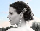 BRIDAL fascinator ,wedding comb,wedding hair piece, crystal hairpiece,bridal head piece with SWAROVSKI Crystals -