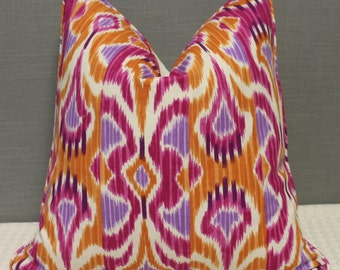 """Clarke&Clarke for Duralee - Lombok in Sunset - 20""""X20"""" - Pattern on the front - Ready to ship"""