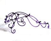 Purple beaded circlet, handmade, gothic, accessories, hair