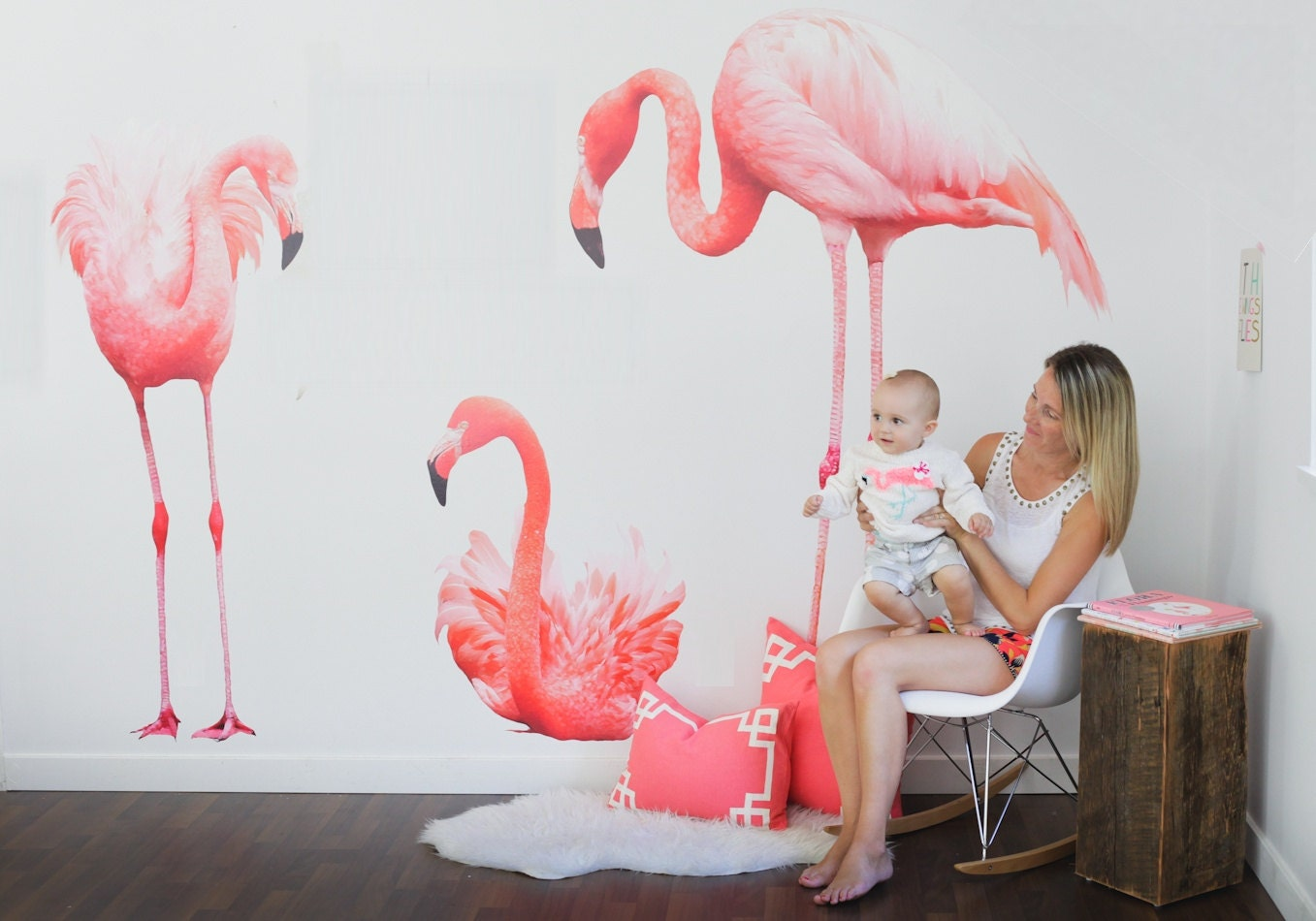 Vinyl Wall Sticker Decal Art Flamingos
