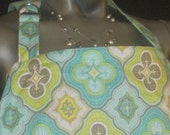 Nursing cover up yellow and teal Morracan