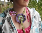 Crochet Pattern for Lariat Flower Necklace PDF