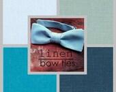 b l u e. h u e s.  LINEN bow.ties