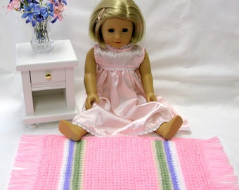 American Girl Crocheted Doll Rug Sasha Doll Throw Rug Rug Kidz n Cats Gotz Madame Alexander Burgundy Purple Pink