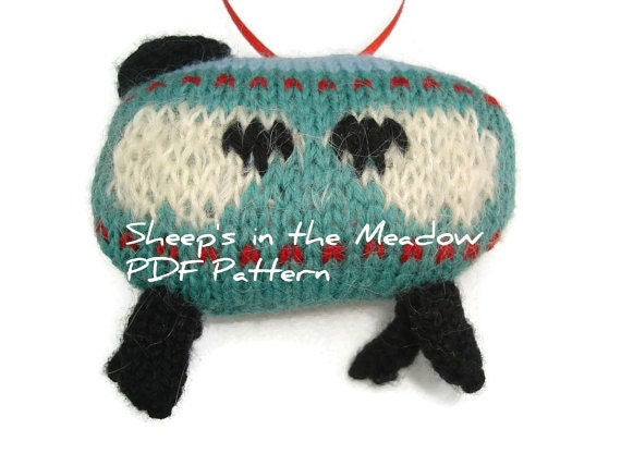 PDF Pattern Knitting Pattern Sheep Ornament