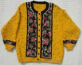 Really Ugly Christmas Sweater  Hand-knit and Bulky