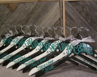 custom painted hangers for weddings and bridesmaids gifts