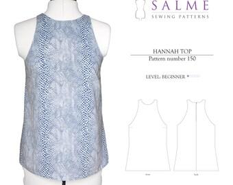 PDF Sewing pattern - Hannah Top