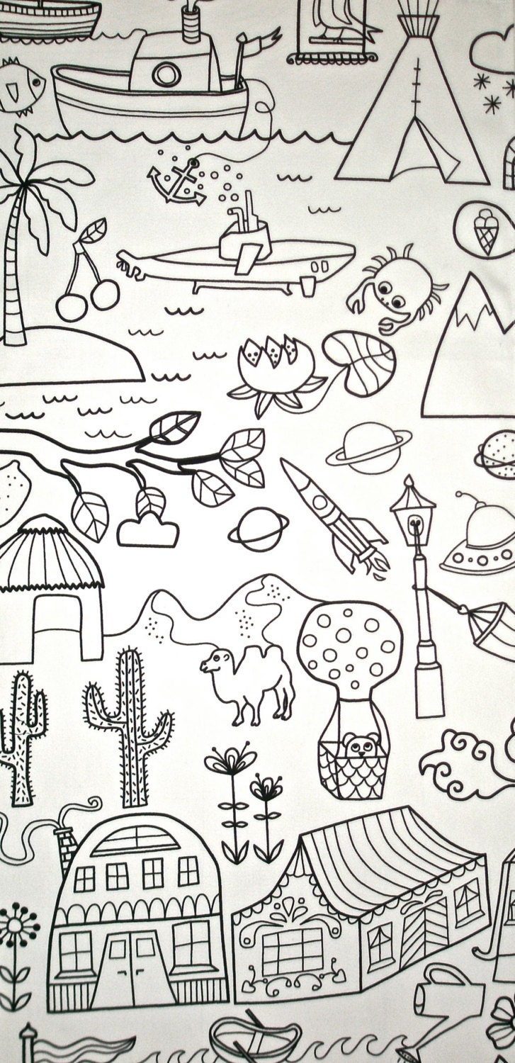 Download Coloring In Table Cloth : Kids Craft Party Favor by MayBrady