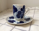 Arabia Finland Elsa Coffee Cup and Saucer by Esteri Tomula