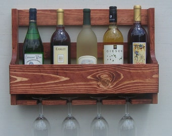 6 bottle wall mount liquor rack with shelf which by rusticcreation. Black Bedroom Furniture Sets. Home Design Ideas