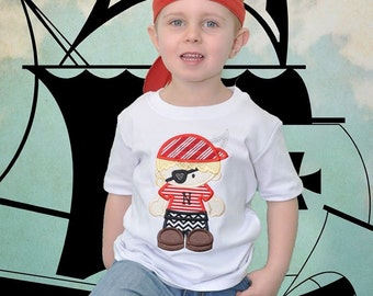 Pirate boy applique