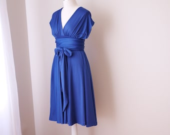 Sample Sale - Convertible/Infinity Dress in darkblue - Size XS/S