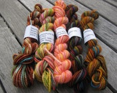 Mini Skeins - superwash merino sock yarn fingering weight - set 7