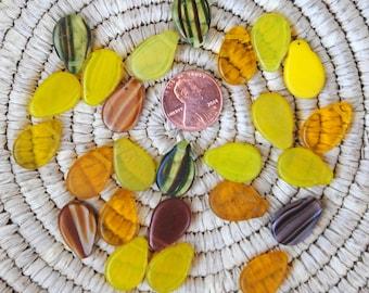 Mali Wedding Beads: 25 Gold/Yellow/Brown