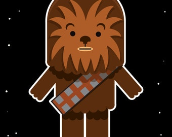 "Baby Nursery Chewbacca Star Wars 8"" by 10"" Print"