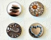Magnet Set of 4 Zen Stones Buy 3 Sets Get 1 Set Free  342M